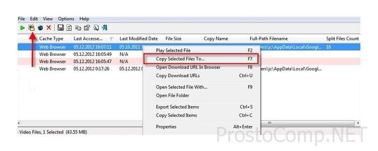 Copy Selected File To