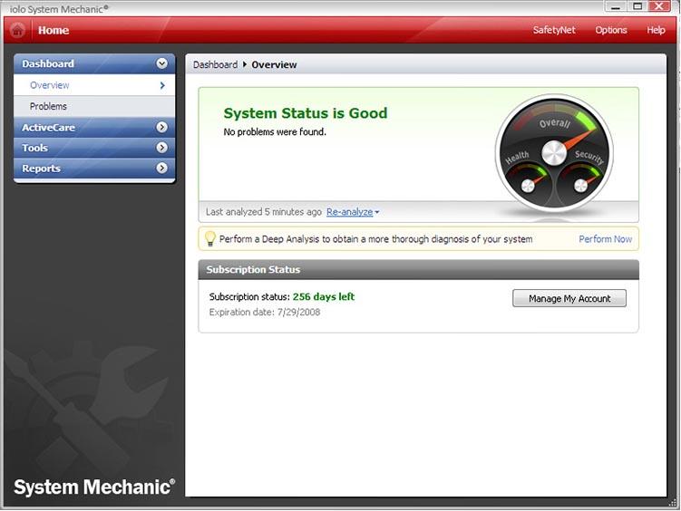 System Mechanic для улучшения производительности системы
