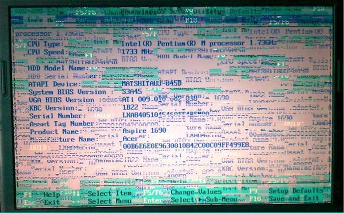 Рябь на участках экрана