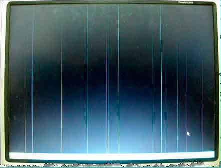 появляются полосы на экране еще при загрузке ОС