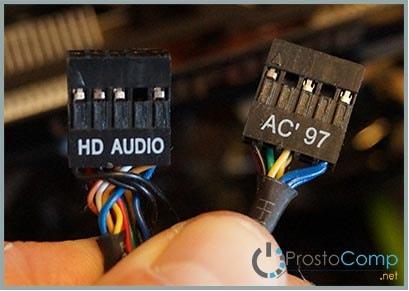 Как подключить аудиовыход и микрофон с передней панели?
