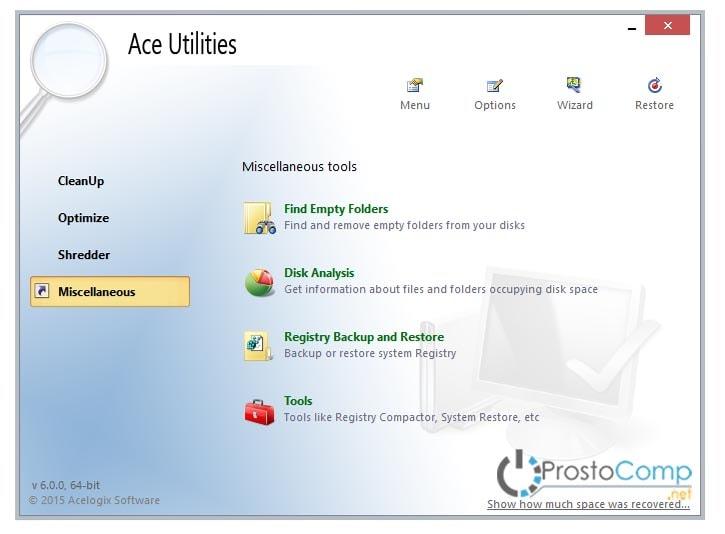 скачать ace utilities на русском для очитски компьютера