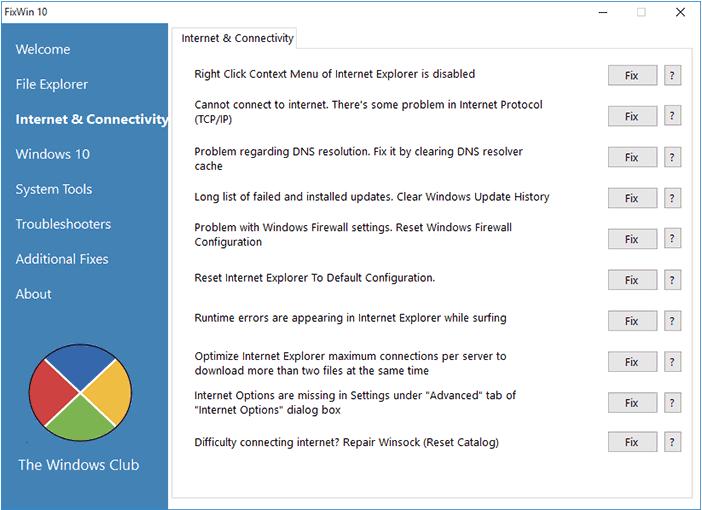 Чиним меню Пуск в Windows 10 с помощью FixWin