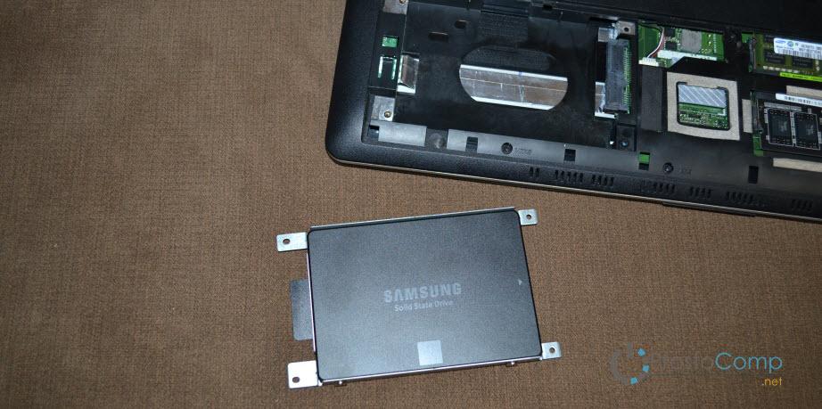 Замена жесткого диска на SSD в ноутбуке