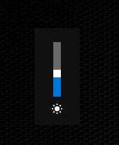 Индикатор яркости в Windows 10
