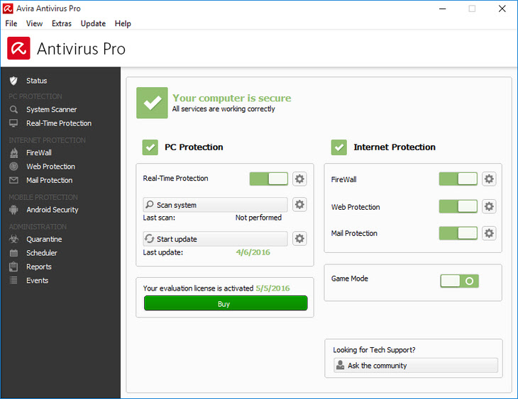 Avira Antivirus Pro: лучший платный антивирус