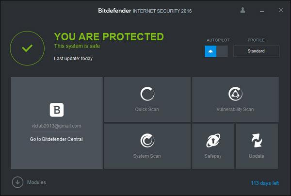 Платный антивирус Bitdefender