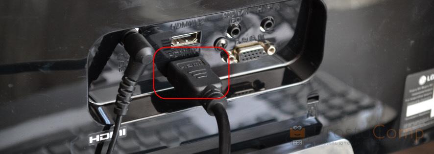 Подключение монитора к ноутбуку по HDMI