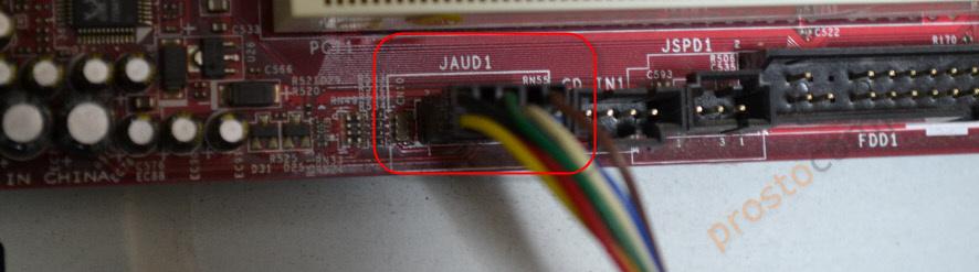 Подключение аудио выхода на наушники и микрофон на передней панели компьютера