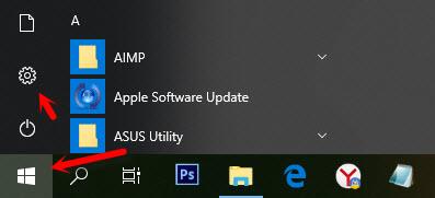 Настройки имени пользователя в Windows 10